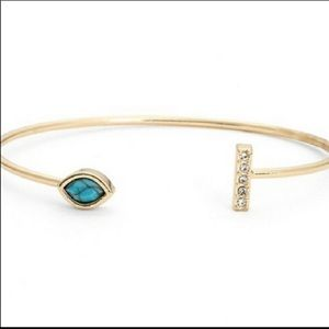 Jules Smith Pave Bar and Stone Cuff